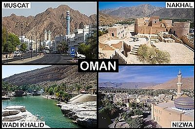 SOUVENIR FRIDGE MAGNET of OMAN