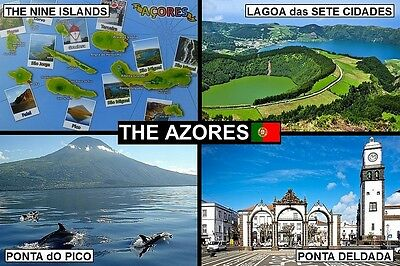 SOUVENIR FRIDGE MAGNET of THE AZORES PORTUGAL