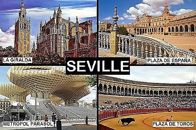 SOUVENIR FRIDGE MAGNET of SEVILLE SEVILHA SPAIN