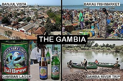 SOUVENIR FRIDGE MAGNET of THE GAMBIA