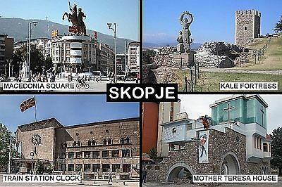 SOUVENIR FRIDGE MAGNET of SKOPJE MACEDONIA