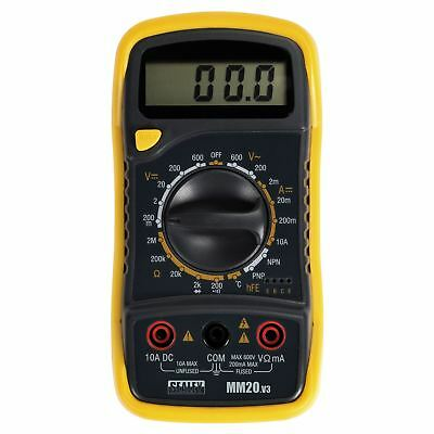New Sealey MM20 Digital Multimeter Thermocouple 7 Function AC DC Current Tester