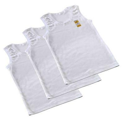 Girls 1,3 & 7 Pack Plain White Cotton Vests Age 1 2 3 4 5 6 7 8 9 10 11 12 13 Yr