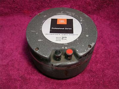1X vintage JBL Professional Series 2470 Compression Horn Driver New Diaphragm