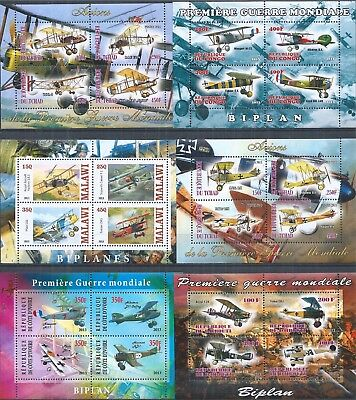 Tchad 2013 Biplane Plane Aviation World War I ** 2X Mini Sheet