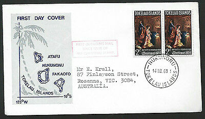 Tokelau 1969 Christmas on addressed official first day cover
