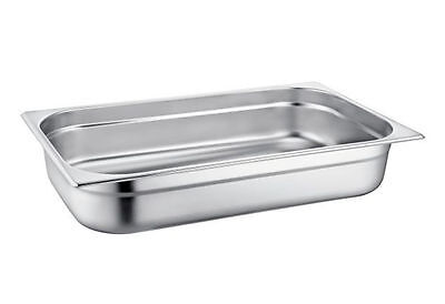 6 x Gastronorm Stainless Steel 1/1 Full Size 100mm / 13.5 Ltr Serving Pan