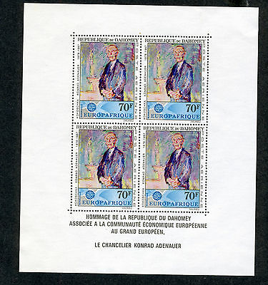 Dahomey, Scott #C58a, Europafrica Issue, Souvenir Sheet, MNH, 1967