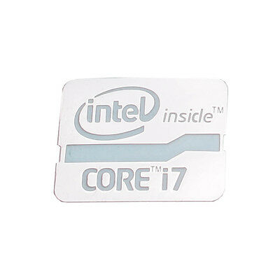 Metall Intel inside CORE i7 Sticker - Aufkleber Metal