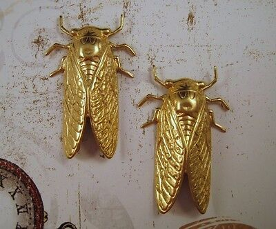 X-Large Raw Brass Cicada Stampings (2) - RAT4931 Jewelry Finding