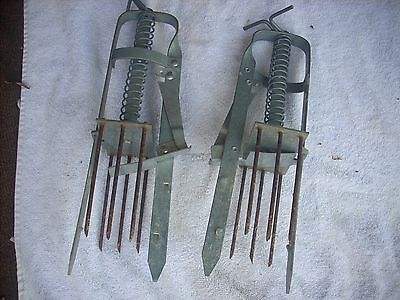 2- Vintage Victor Spring Loaded Mole Traps, Works Great, Nice !!