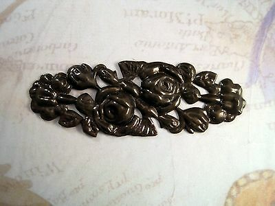 Large Antiqued Brass Floral Stamping (1) - ANTRAT252 Brass Jewelry Finding