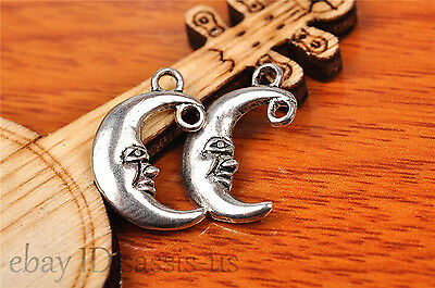 20pcs 18*12mm Charm lovers smile moon Diy Jewelry Bead Making For Bracelet 7199
