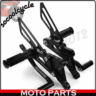 CNC Billet Racing Rearsets Foot Pegs Footrests For Yamaha YZF R6 2003 2004 2005