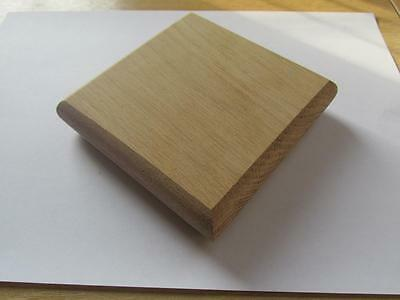 Solid Oak Flat Stair Newel Post Caps to fit 90mm Posts - Half or Full options