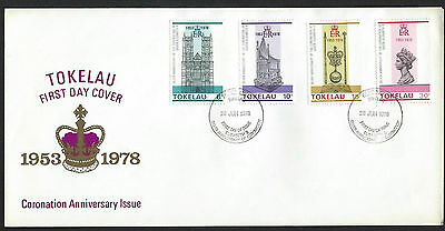 Tokelau 1978 Coronation Anniversary set on unaddressed official first day cover