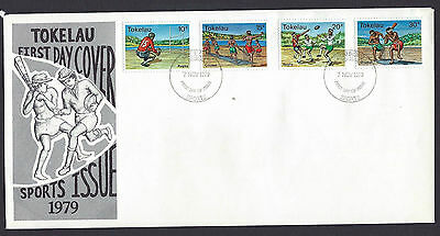Tokelau 1979 Sports set on unaddressed official first day cover