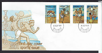 Tokelau 1981 Sports set on unaddressed official first day cover