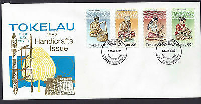 Tokelau 1982 Handicrafts set on unaddressed official first day cover