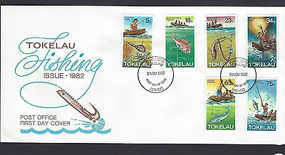 Tokelau 1982 Fishing set on unaddressed official first day cover