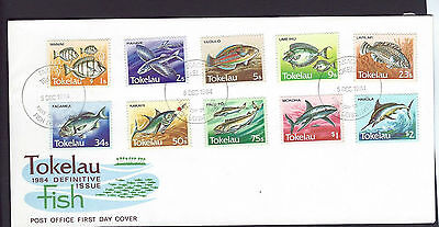 Tokelau 1984 Fish definitive set on unaddressed official first day cover