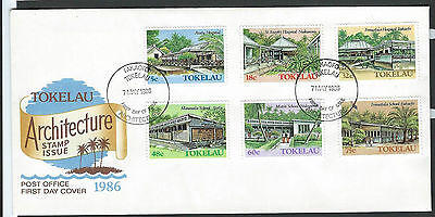 Tokelau 1986 Architecture set on unaddressed official first day cover