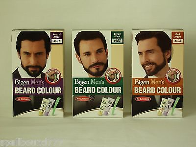 Bigen Mens Speedy Permanent Beard & Moustache Hair Colour Dye