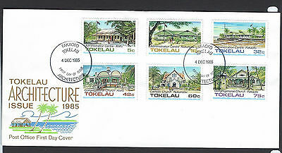 Tokelau 1985 Architecture set on unaddressed official first day cover