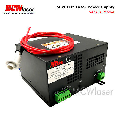 HQ Professional 50W Power Supply for CO2 Laser Engraving Cutting Machine 220V