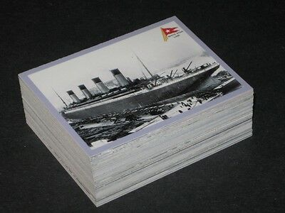 1998 TITANIC 1912 CRUISE SHIP HISTORY  COMPLETE 72 CARD SET