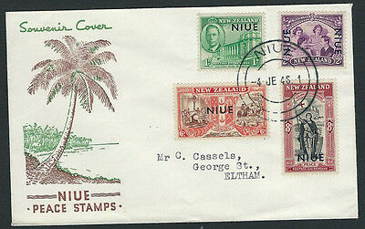 Niue 1946 Peace set on illustrated first day cover