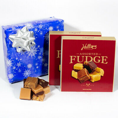 White Christmas - Assorted Fudge Gift Box - Hall's Candies
