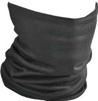 Seamless Tube Solid Black Neck Warmer Face Mask Ski Snowboard Motorcycle Biker