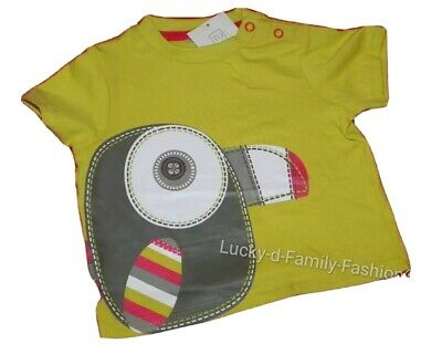 NEW Baby boy TU short sleeve safari yellow red bird top age up to 1 month gift