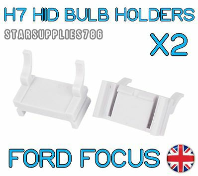 2x H7 FORD FOCUS HID CONVERSION KIT HEADLIGHT BULB HOLDERS FOCUS MK2 MK3 HOLDERS