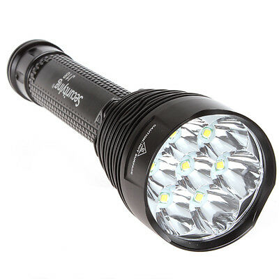 8000 Lumens SecurityIng 7 x CREE XM-L T6 LED 5 Modes Flashlight Torch + Holster