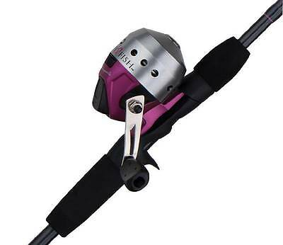 "Shakespeare Pink Lady Fish Fishing Spincast Rod & Reel Combo Medium 5'6"" 2 Pc"