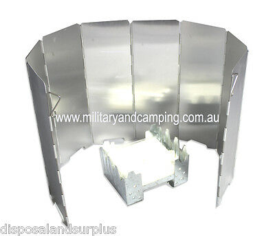 8 Plates Foldable Camping Hiking Stove Windshield Screen Picnic BBQ Cookout