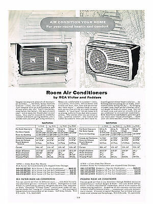 1954  Ad Rca Victor, Fedders Room Air Conditioners Gas Oil Room Heaters
