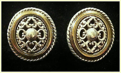 BRAND NEW, Classic BRIGHTON earrings, 2-tone, OVAL REGENCY with FREE SHIPPING !!