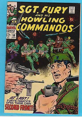 Sgt. Fury and His Howling Commandos #58 Marvel 1968 Ayers/Severin VFNM