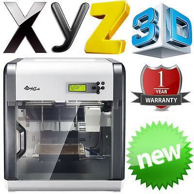 XYZ Printing Da Vinci 1.0A 3D Fabrications Desktop Printer ABS or PLA PC & Mac