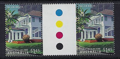 2006 Christmas Island Heritage Buildings $1.45 Gutter Pair Fine Mint Mnh/muh