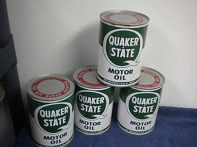Quaker State Motor Oil Can Hd Sae 40 Metal Vintage