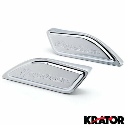 Chrome Side Motorcycle Tank Pad Covers Cap for 1999-14 GSXR1300 Gixxer Hayabusa