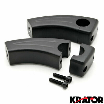 "3.5"" Black Motorcycle Cruiser Bike Handlebar Pullback Risers (For 1"" Inch Bars)"