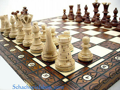 Brand New Large Hand Crafted Wooden Chess Set 54x54  SCHACH  AJEDREZ  2014
