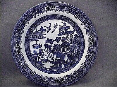 """Vintage Blue Willow 10.5"""" Dinner Plate by Churchill, England - Great Replacement"""