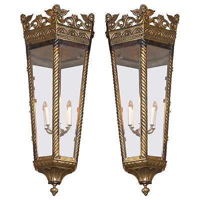 Pair of Empire Style Bronze Chandeliers 101-NM
