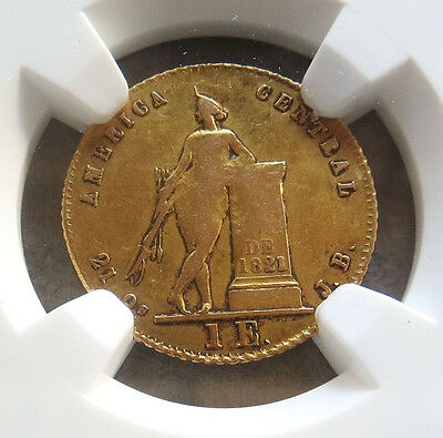 1850 Jb Gold Costa Rica Escudo Coin Ngc Very Fine 30